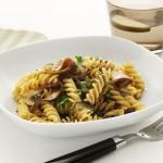 Fusilli pasta med sopp